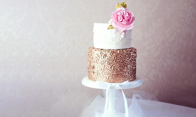 glitter cake