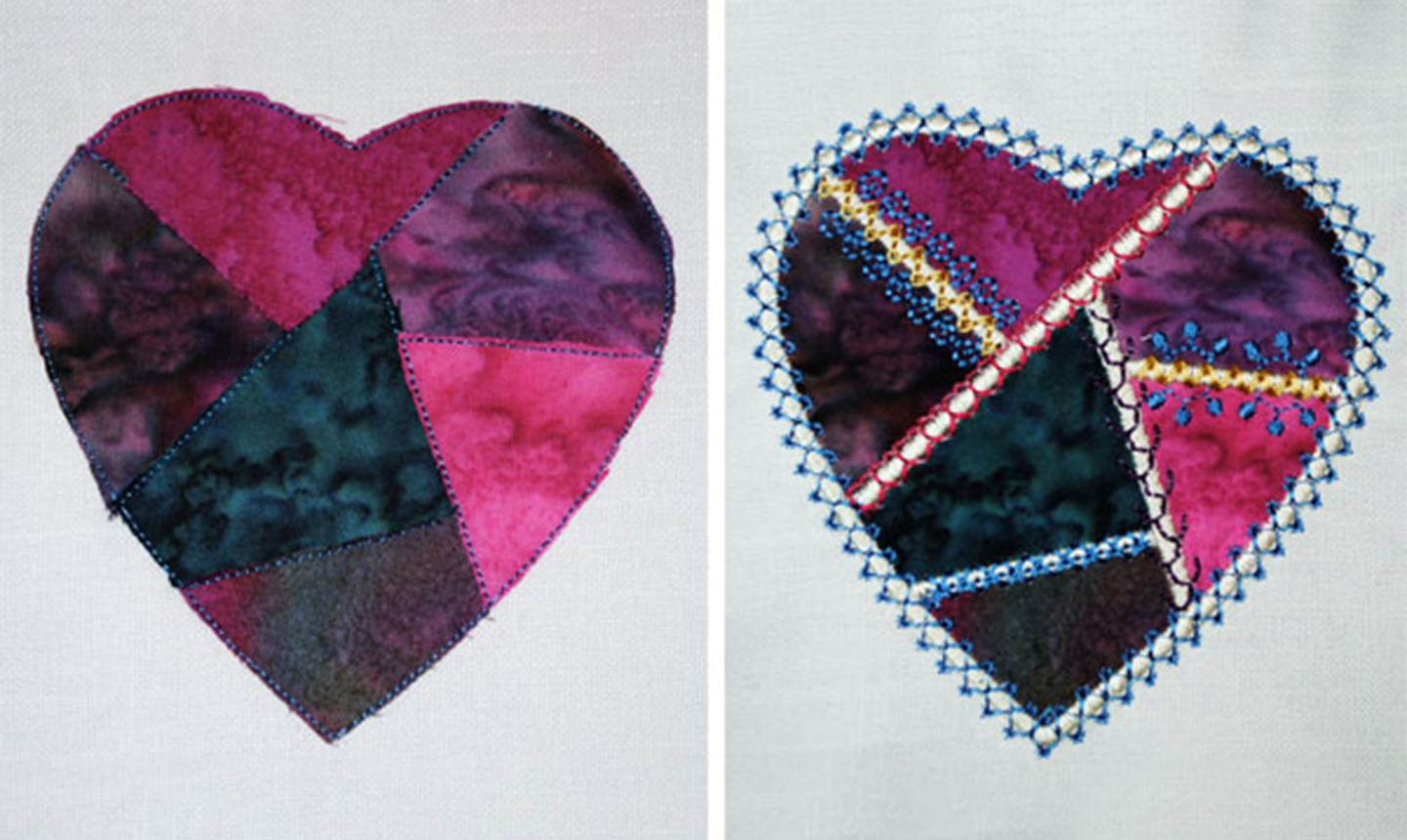 embroidered crazy heart