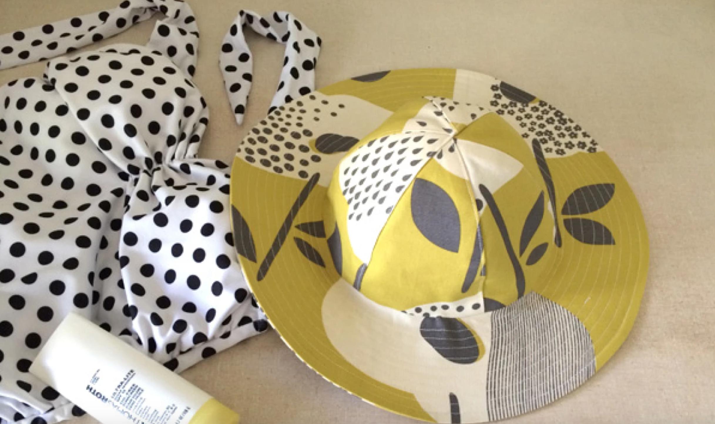 sewn folding sun hat