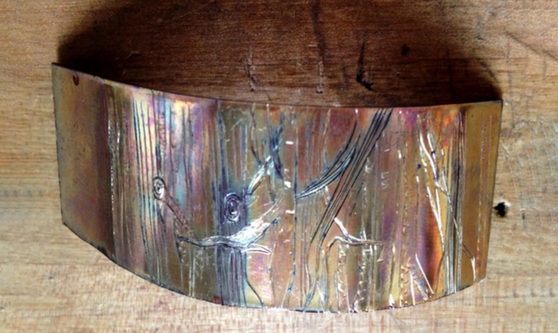 heat patina copper