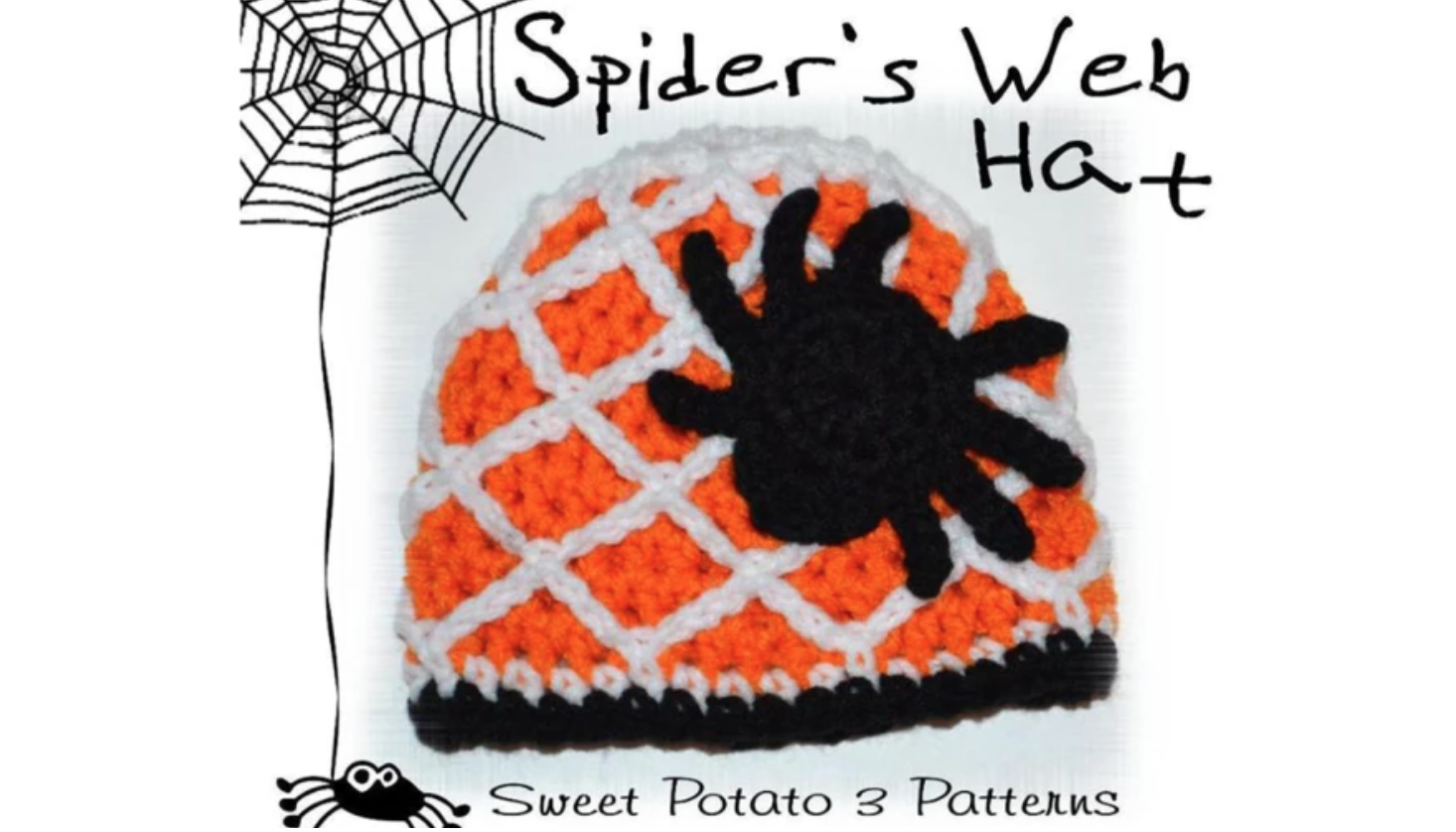 crochet spider web hat