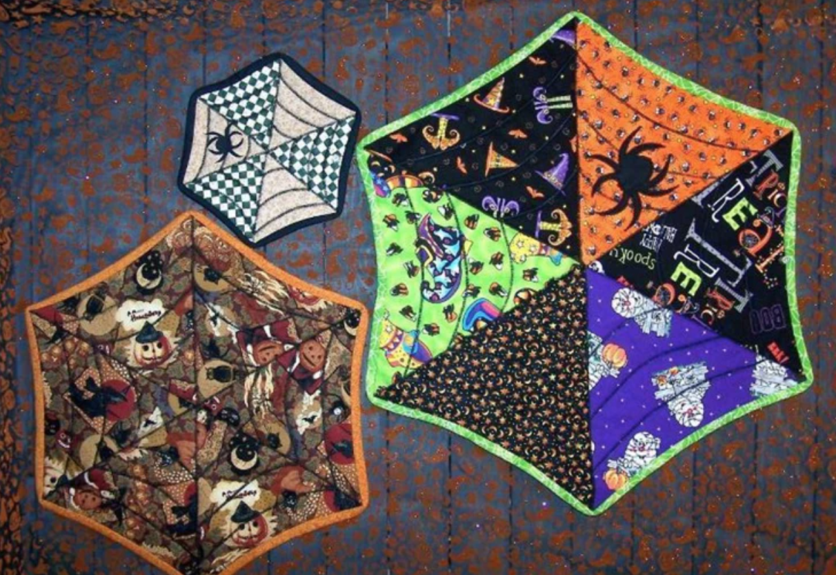 spider web table topper quilts
