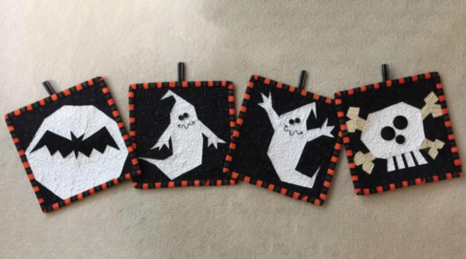 halloween paper pieced blocks