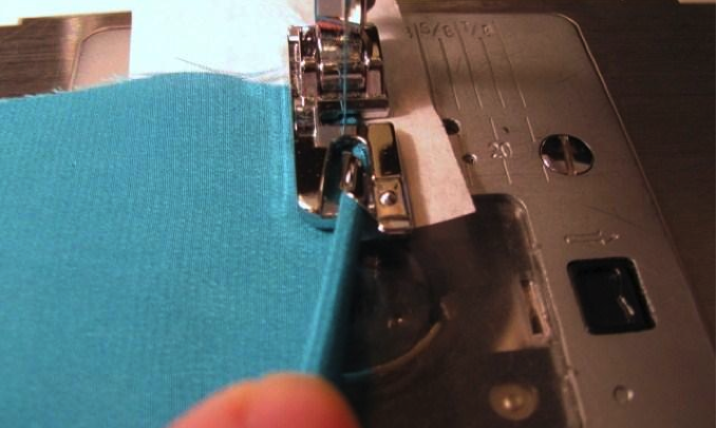 sewing with rolled hem presser foot