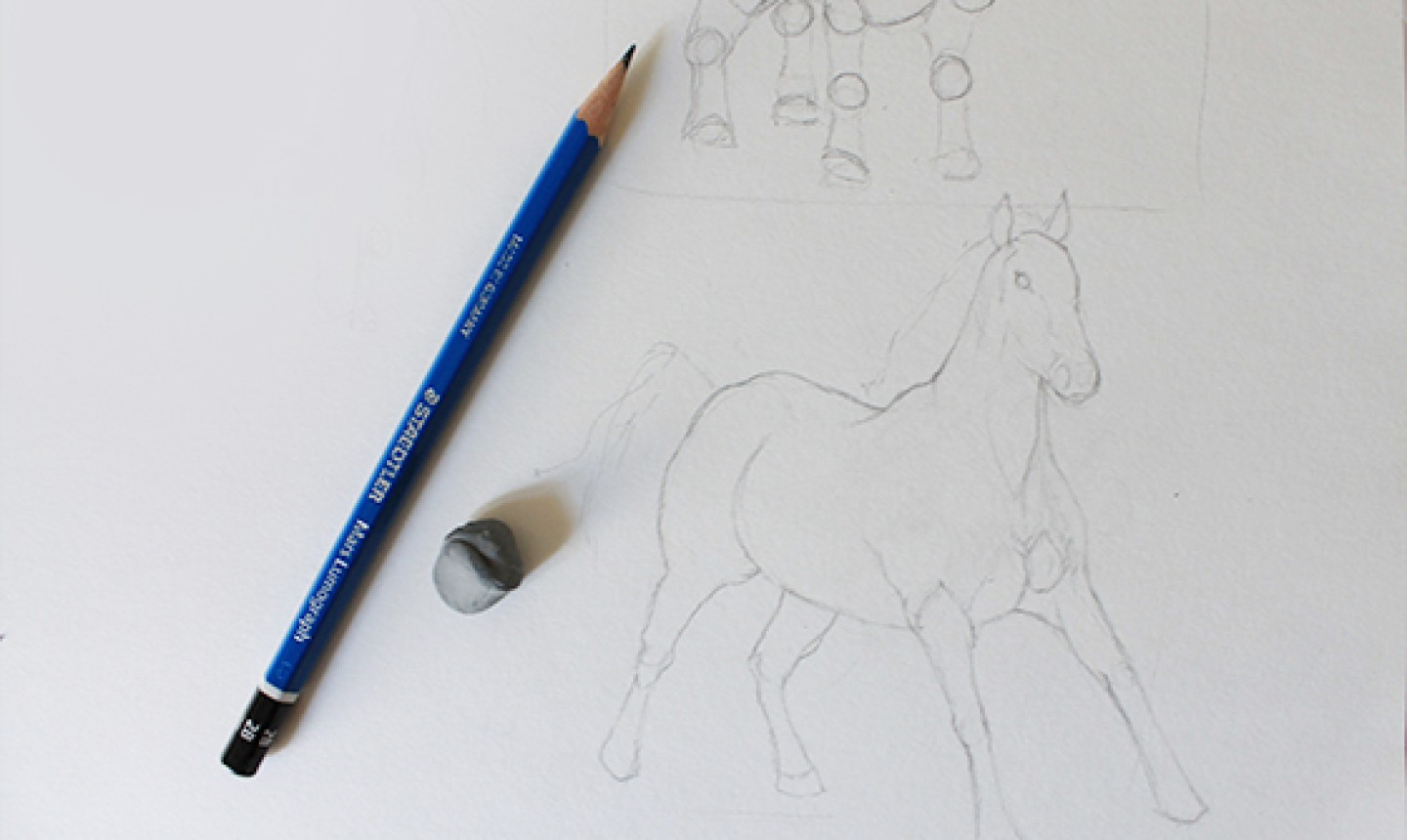 horse contour drawing