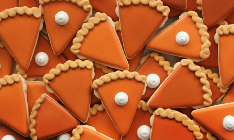 sugar cookies decorated as pumpkin pies