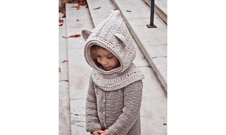 Polar bear cowl hood