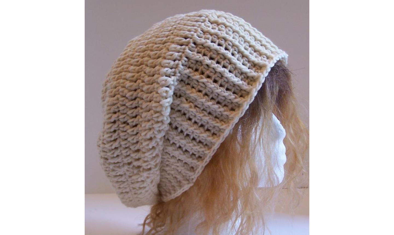 Slouchy grey hat