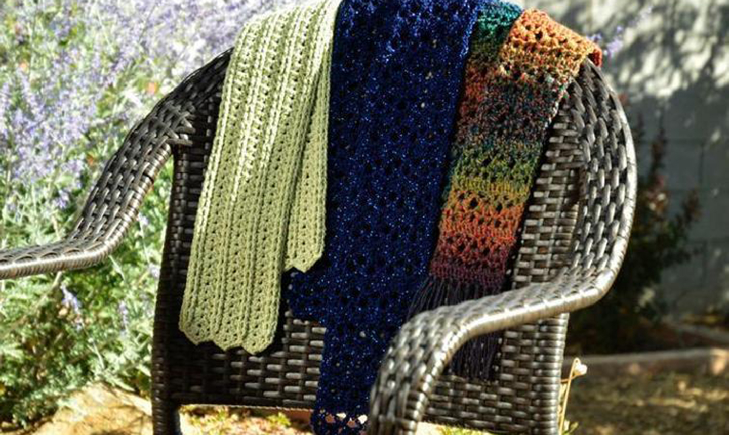Scarves on a chair