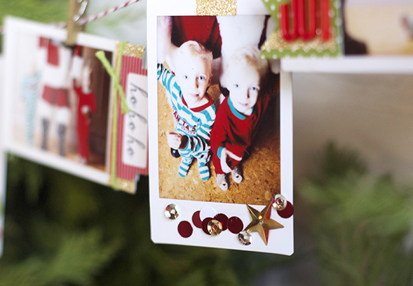 confetti photo ornament