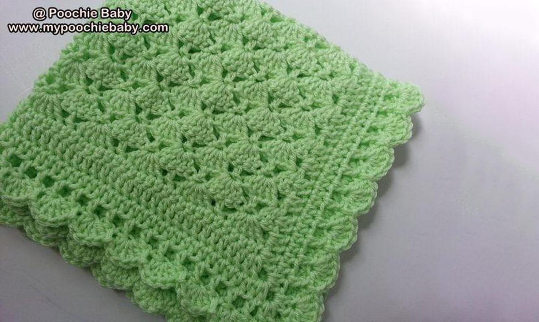 Green crochet blanket