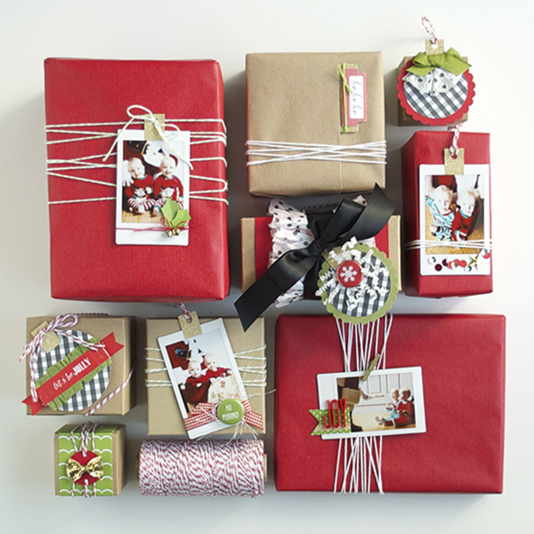 paper and photo gift tags