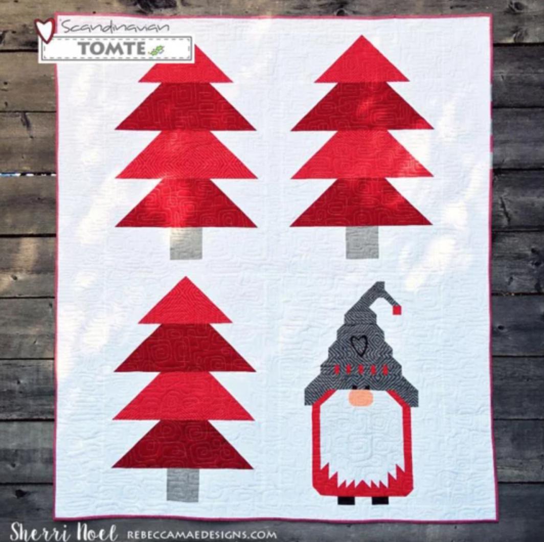 scandinavian tomte quilt