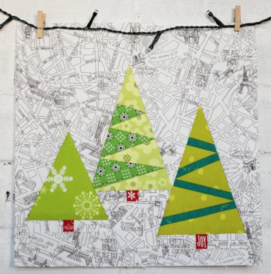 modern christmas quilt