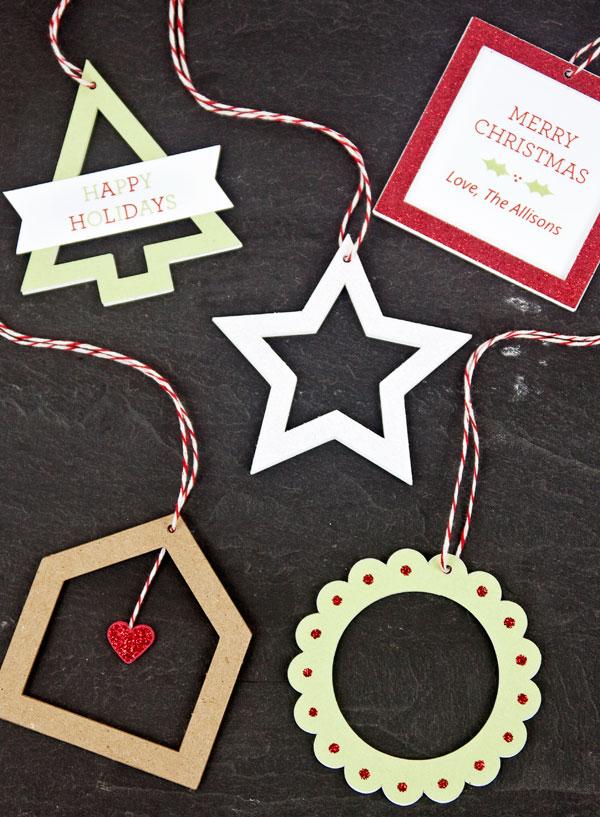 die cut ornaments