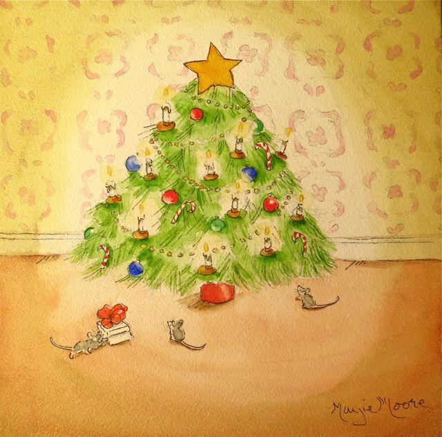 watercolor christmas tree