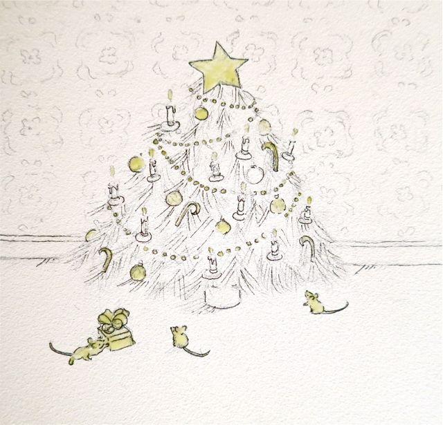 masking fluid christmas tree