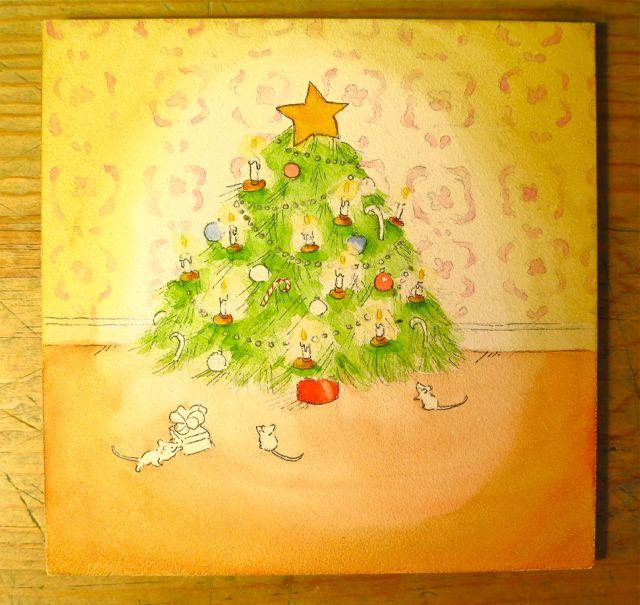 painting christmas tree