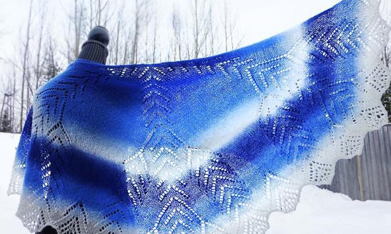 snow crystal shawl
