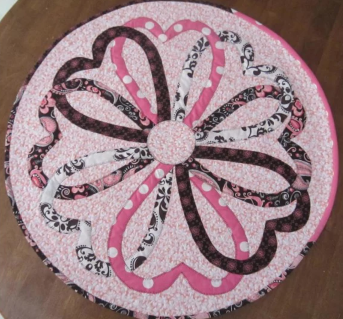 round heart table topper