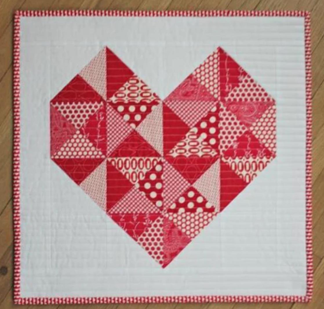 hst heart mini quilt