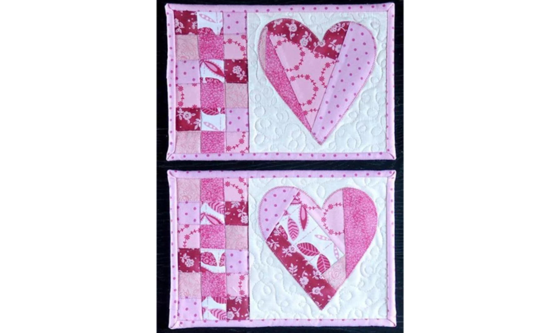 valentines day mug rugs