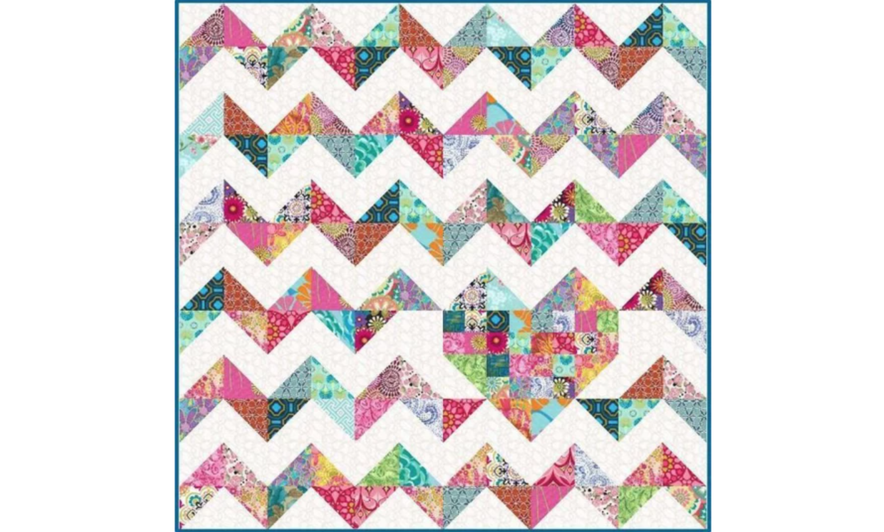 chevron heart quilt