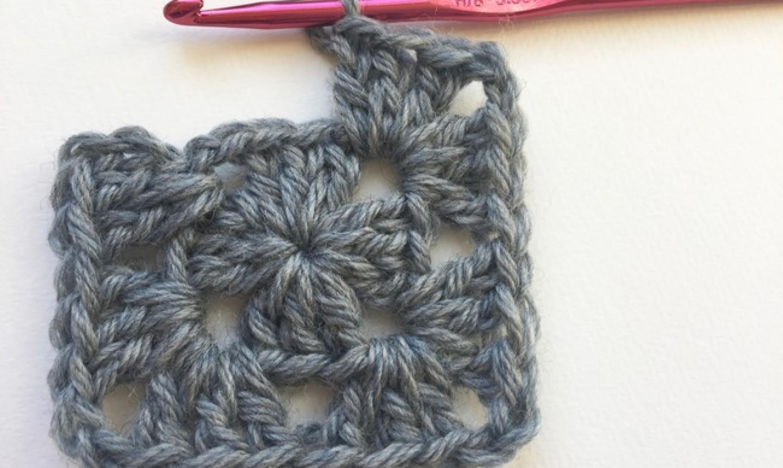 stitching row 2 granny square