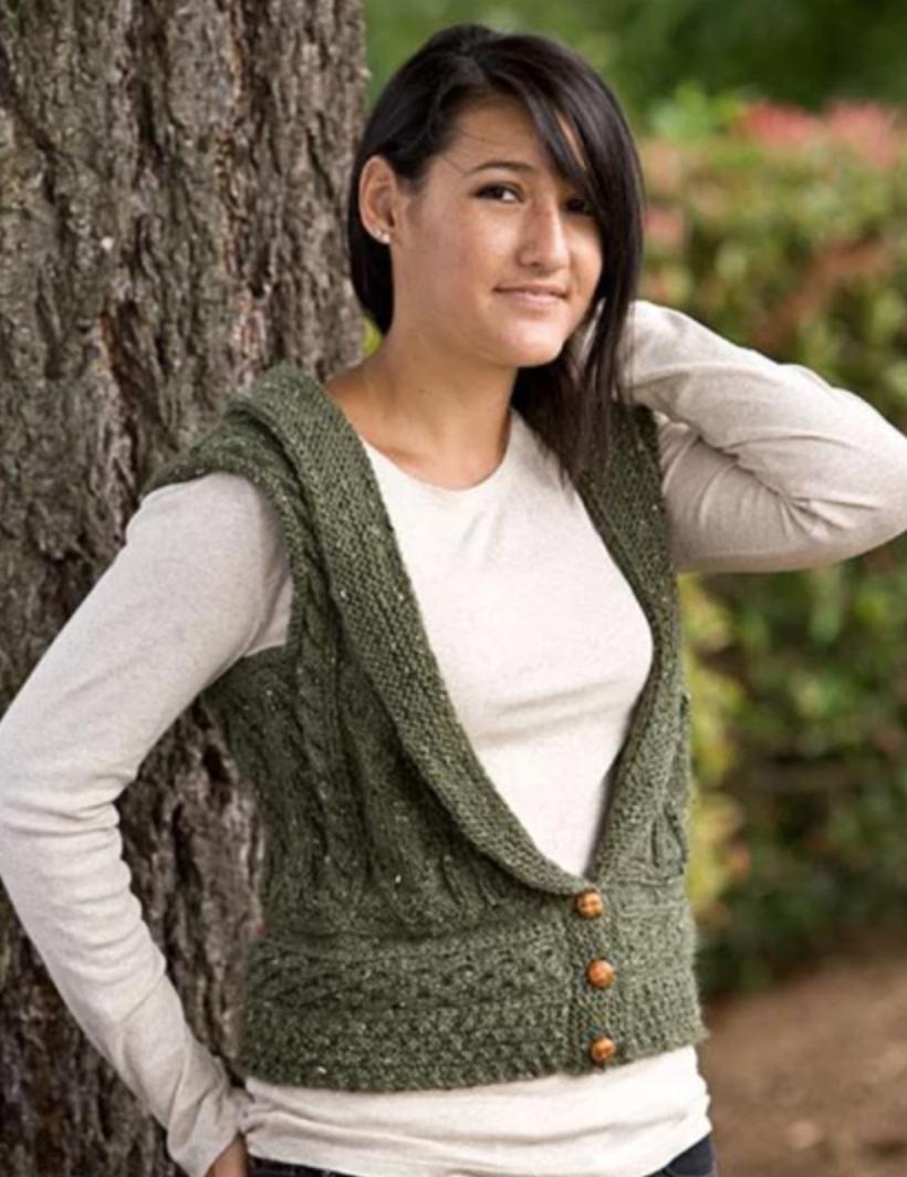 knit irish vest