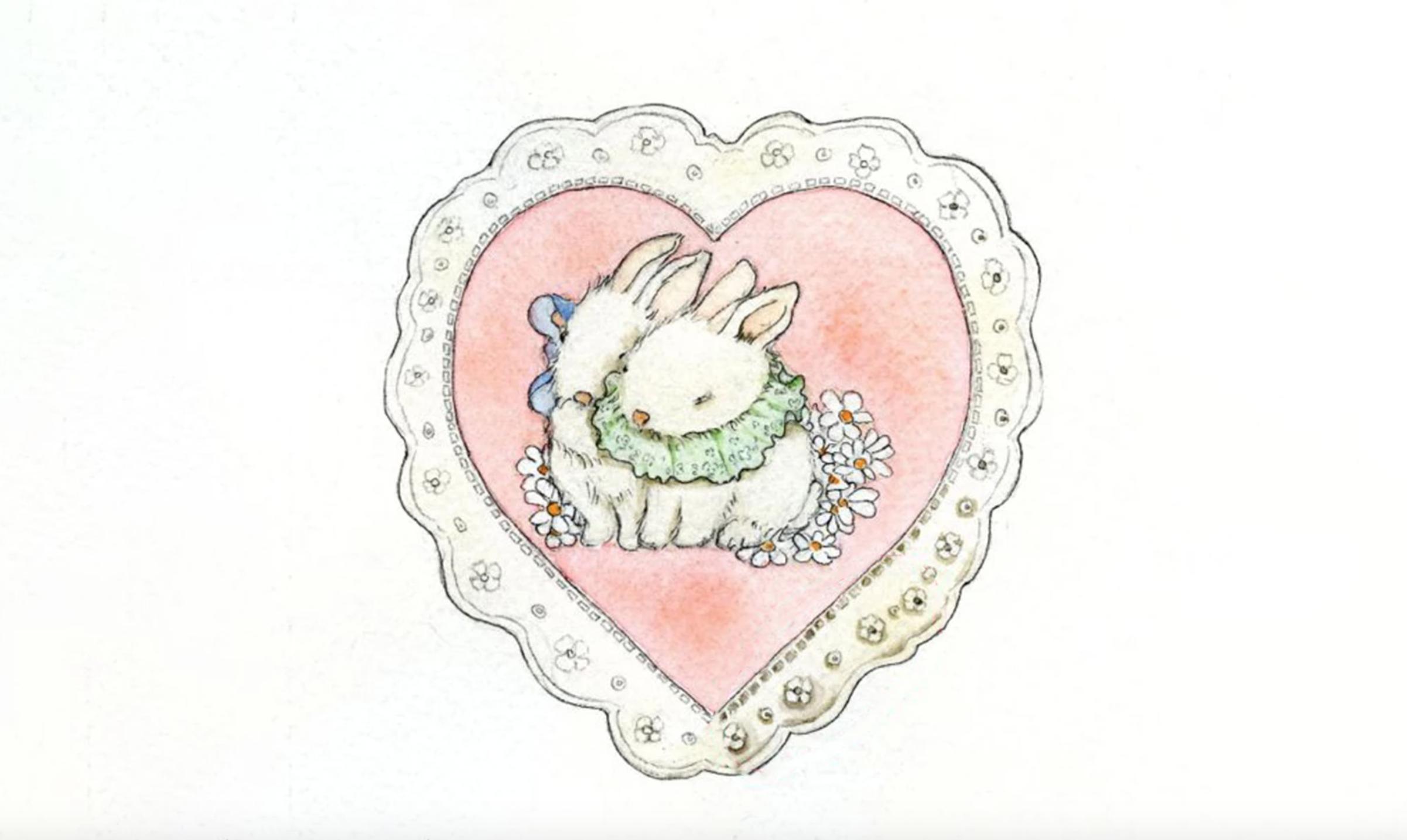 watercolor lace heart