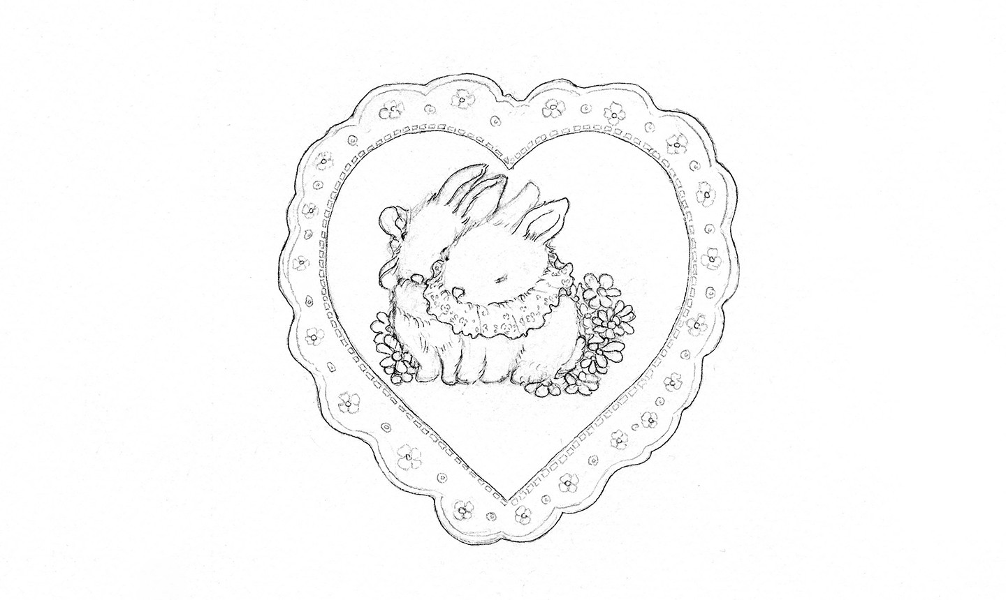 lace heart drawing