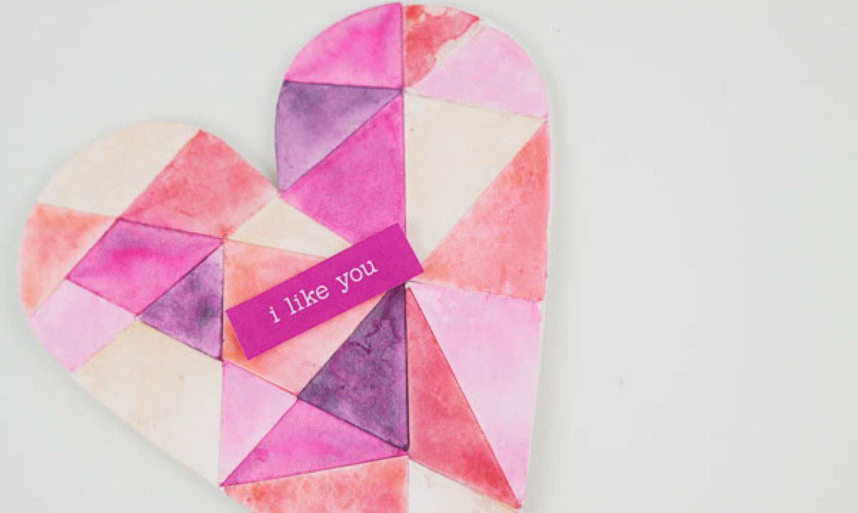 i like you heart card