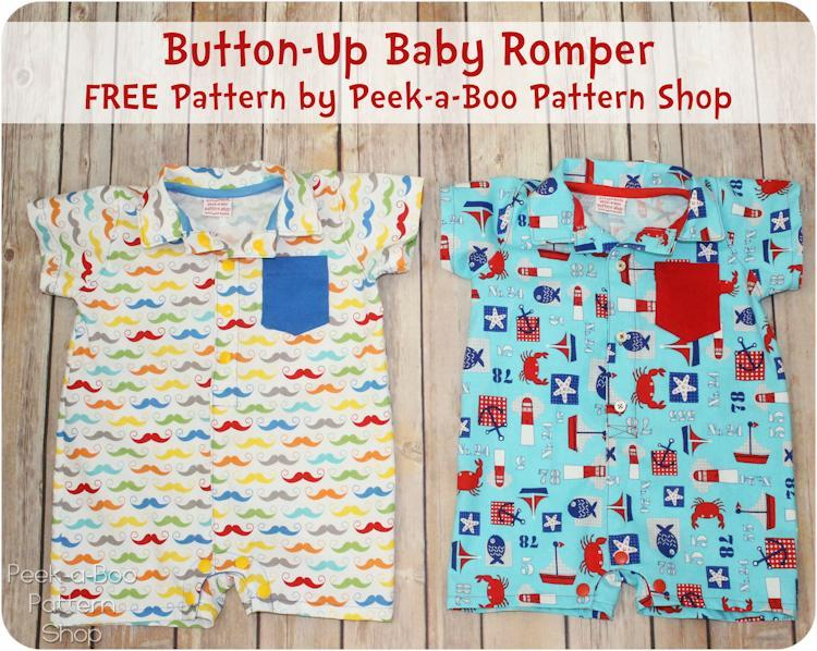button up baby romper