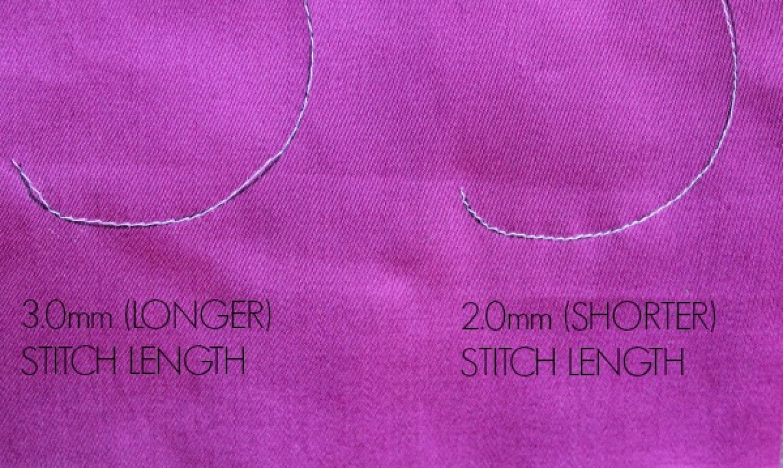 curved stitch length