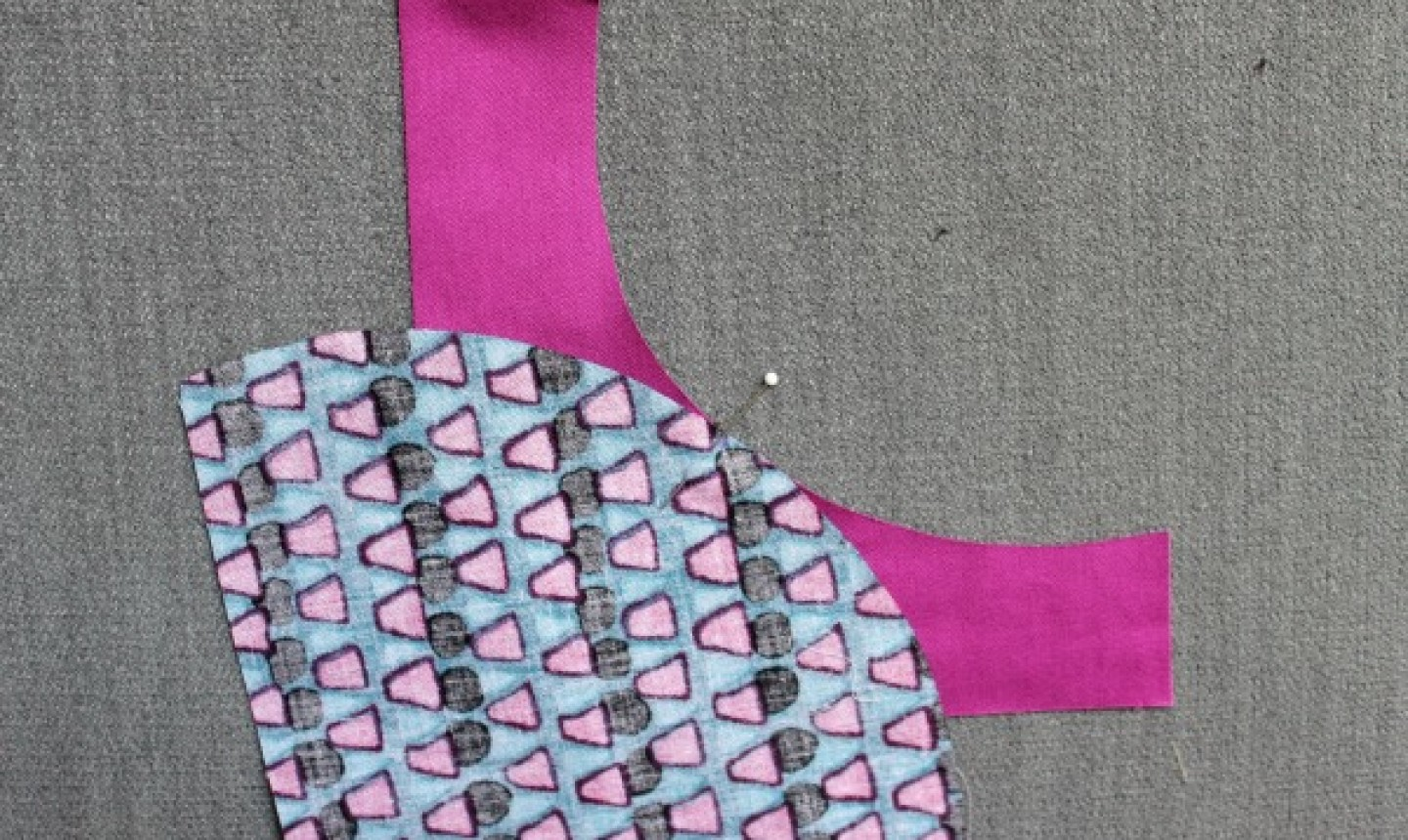 curved fabric pieces