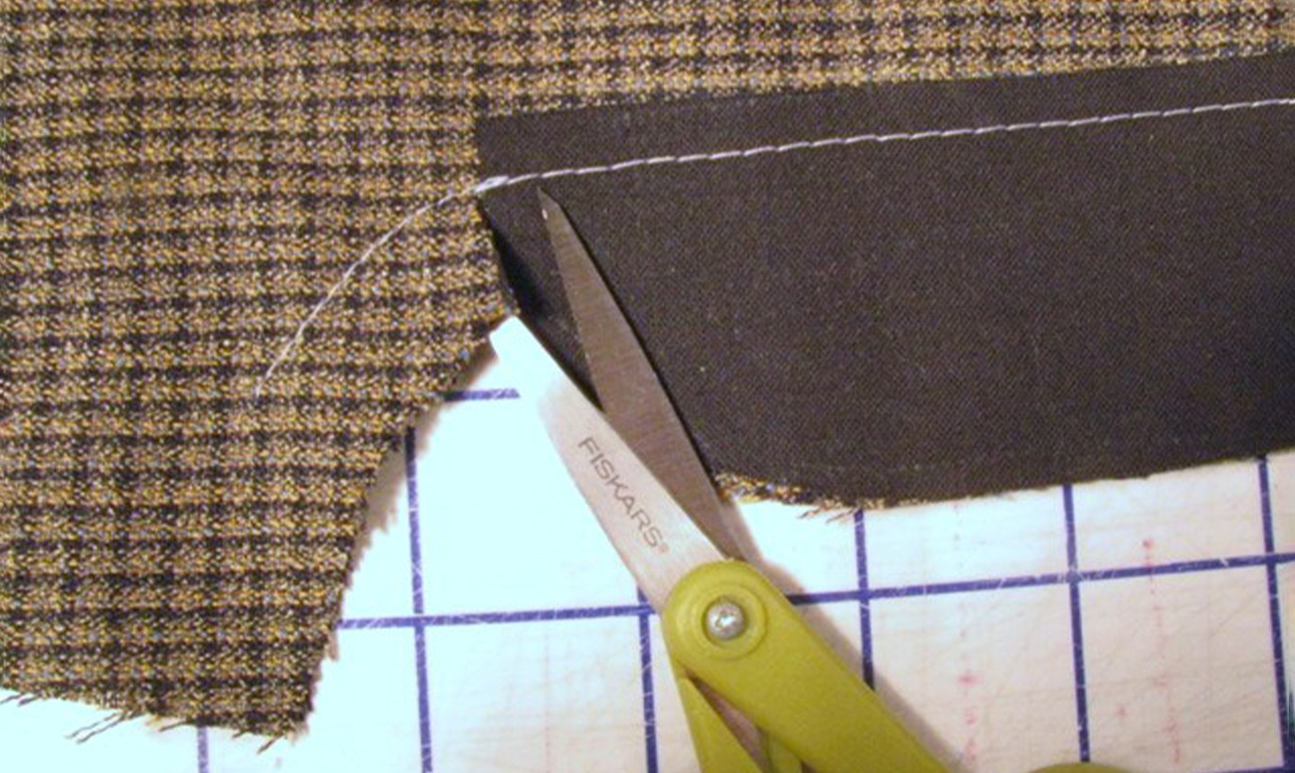 sewing front fly seam