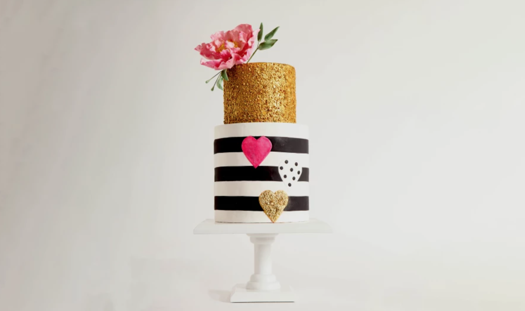 wafer paper and gold cake