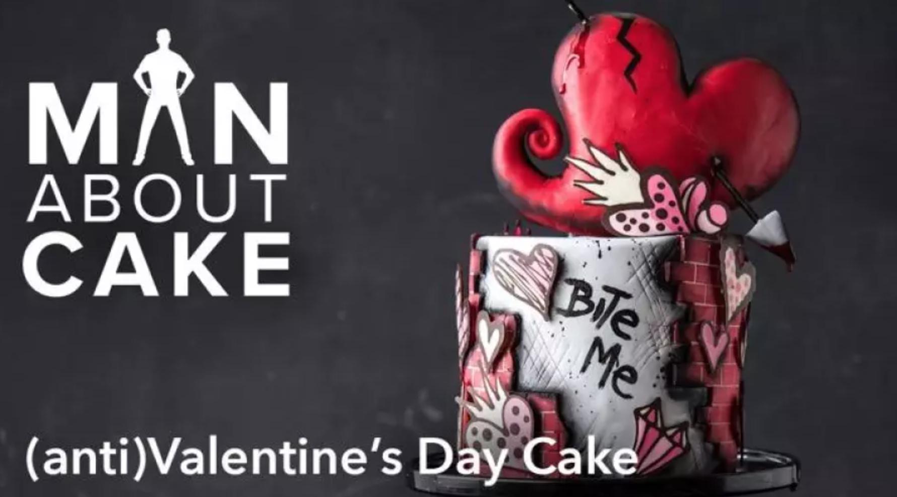 anti valentine cake