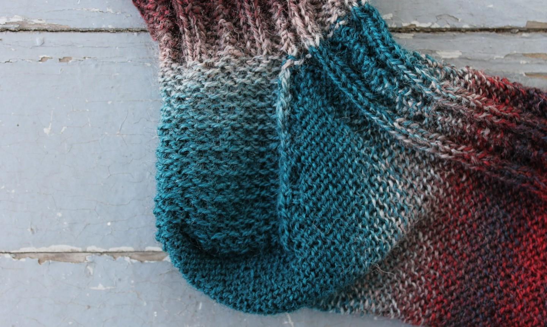 knit sock heel