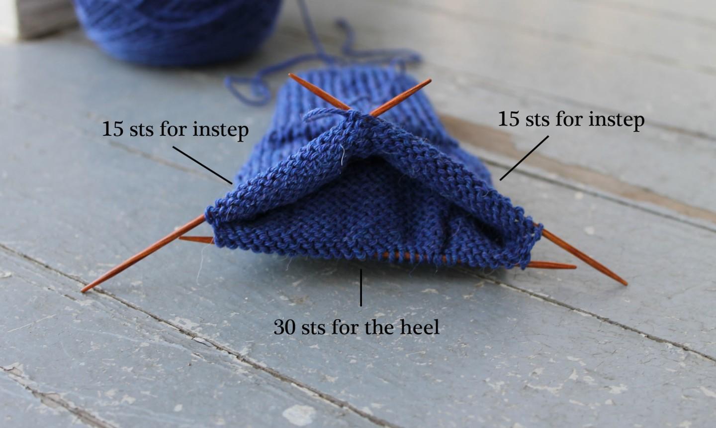 knitting socks on dpn