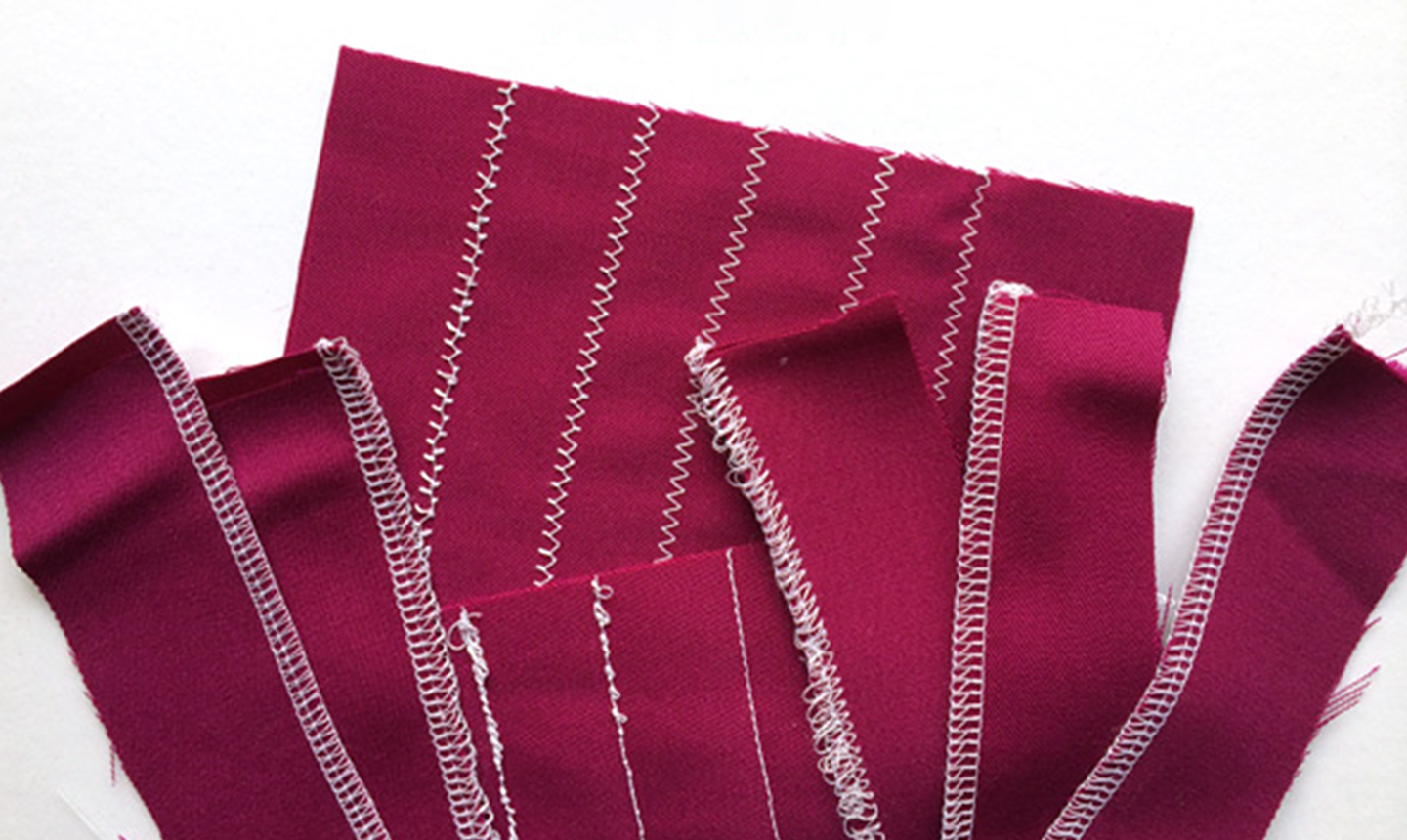 Maroon cloth with different stitches