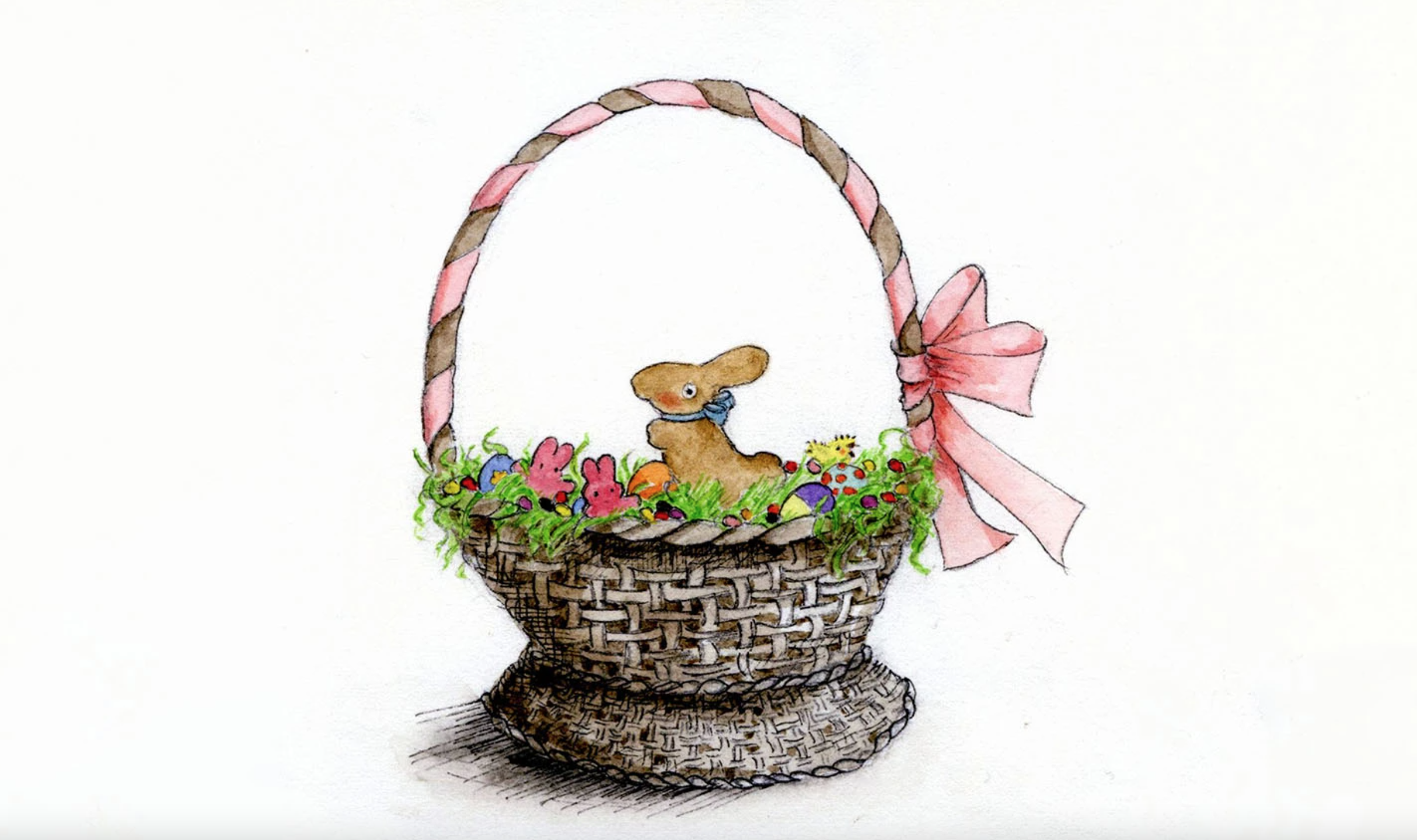 watercolor easter basket