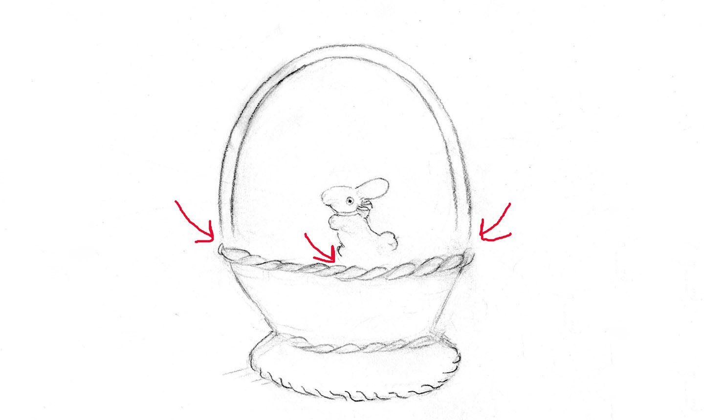 drawing easter basket