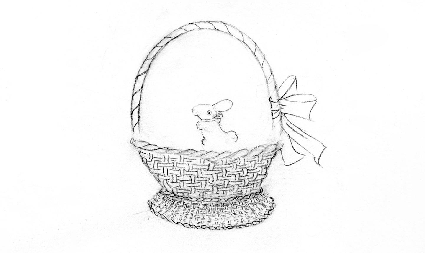 drawing of easter basket