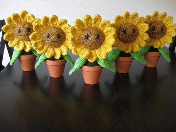 amigurumi sunflowers