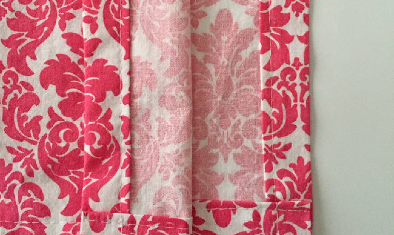 hemming shower curtain