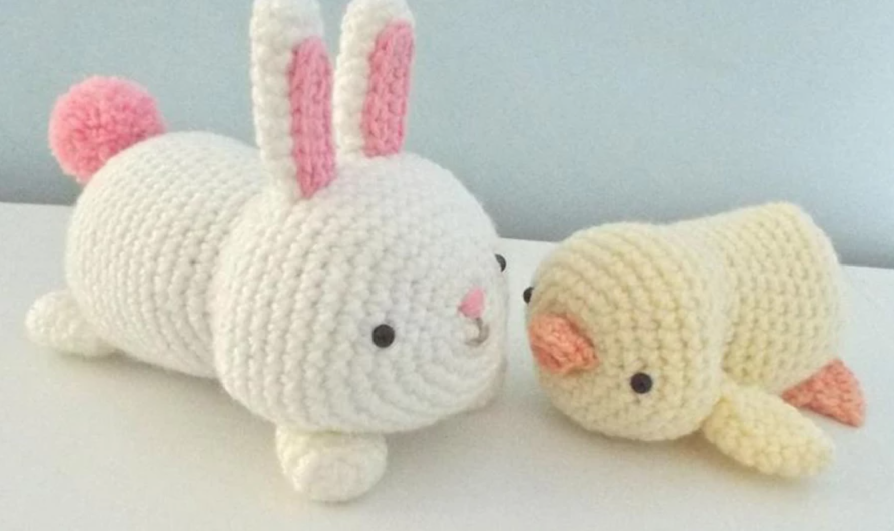 amigurumi chick and bunny