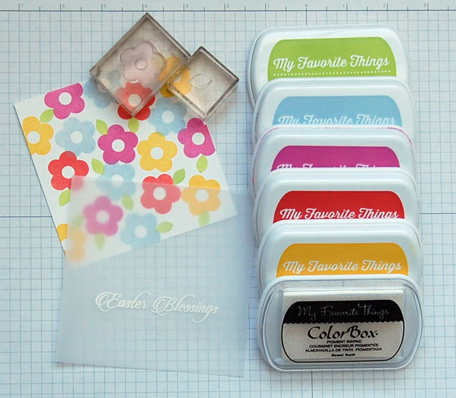 stamping flowers on paper