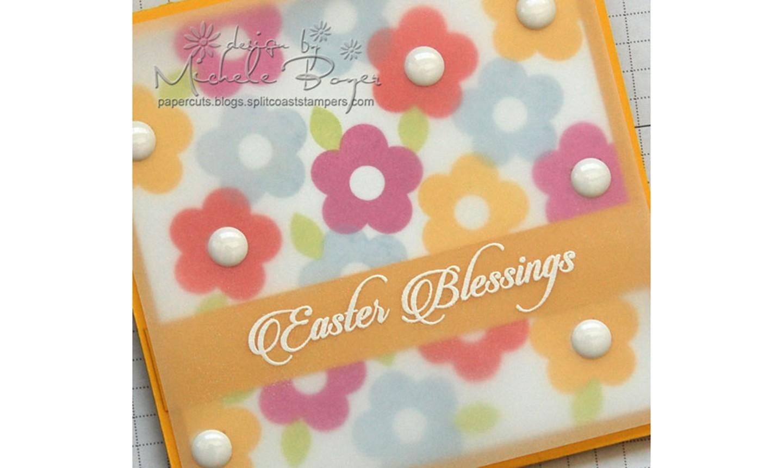 flower easter card detail