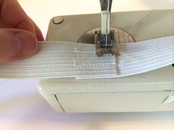 Sewing ends of elastic